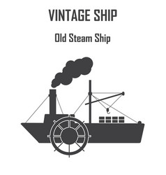 steam boat ship icon vector image