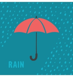 Umbrella and rain background vector image