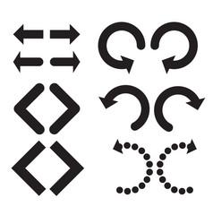 undo and redo arrow icon on white background vector image