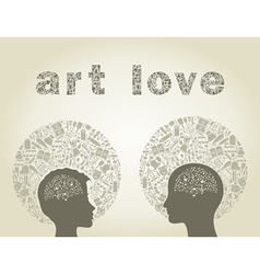 Art love vector image vector image