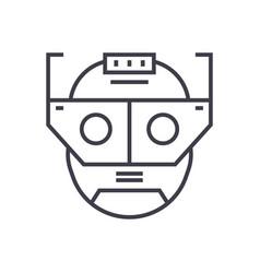 augmentation head linear icon sign symbol vector image