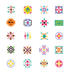 aztec ethnicity style signs american indian vector image vector image