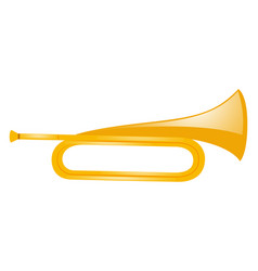 golden trumpet on white background vector image