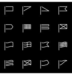line flags icon set vector image
