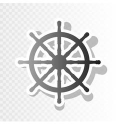 ship wheel sign new year blackish icon on vector image