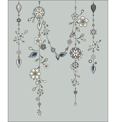 vector illustration of decorative wind chimes with vector image