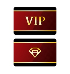 Vip cards with diamond vector image vector image