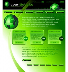 website abstract template vector image