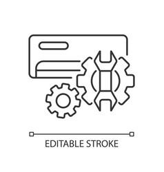 Ac repair service linear icon vector