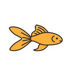 Aquarium goldfish color icon vector
