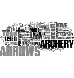 archery arrows text word cloud concept vector image