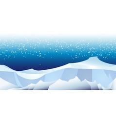 Arctic landscape pattern vector