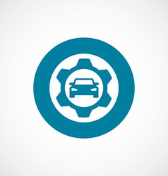 auto service icon bold blue circle border vector image