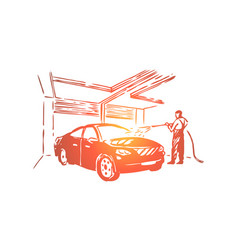 automobile care station employee vector image