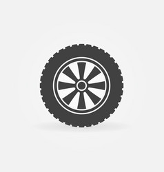 automobile wheel icon or logo element vector image
