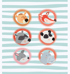 baby shower card with cute animals vector image