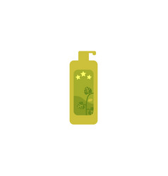 Bbq sauce in green plastic bottle icon vector