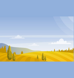 Beautiful autumn fields vector