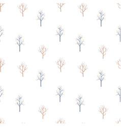 Beautiful winter seamless pattern with hand vector