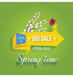 Big sale banner on a green background vector