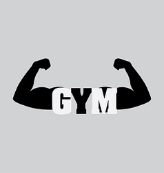 bodybuilder design vector image