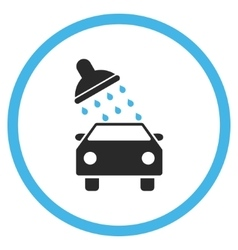 Car Wash Flat Icon vector