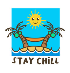 Chill beach holiday cute vector
