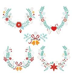 Christmas laurels vector