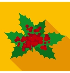 Christmas Mistletoe in Flat Style vector