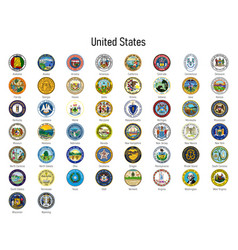 Coat arms states united states all vector