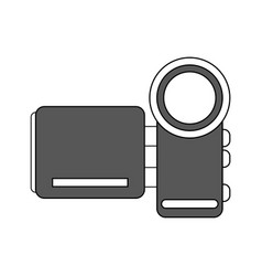 color silhouette image digital video camera device vector image