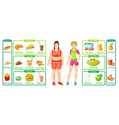 Colorful weight loss infographics vector