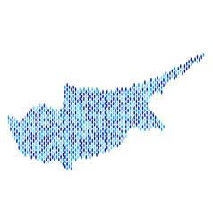 cyprus island map population demographics vector image