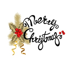 decorative christmas lettering vector image