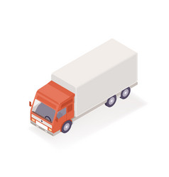 delivery truck isometric vector image