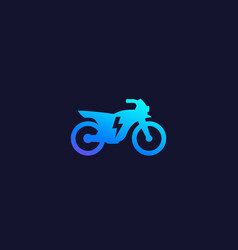 Electric bike motorcycle icon vector