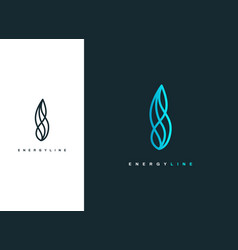 Energy line wave logo design template vector