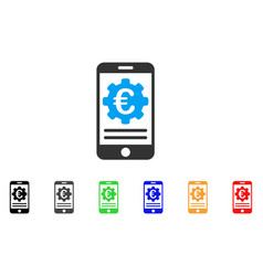 euro mobile banking configuration icon vector image