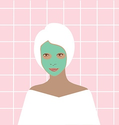 Face mask spa vector image