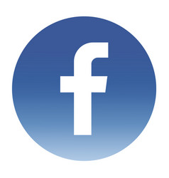 facebook logo circle gradient vector image