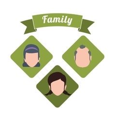 Family and Grandparents design vector