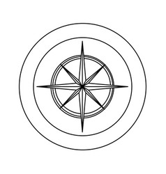 figure symbol compass star icon vector image