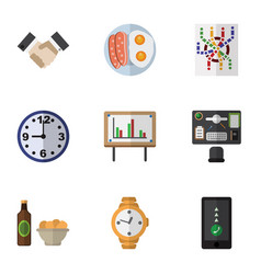 Flat icon oneday set of whiteboard partnership vector