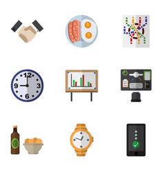 Flat icon oneday set of whiteboard partnership vector