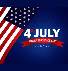 Fourth july independence day usa usa flag vector