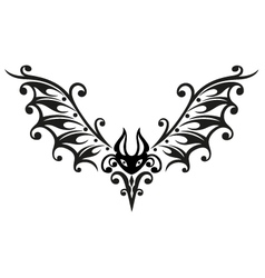 Halloween bat tribal vector image