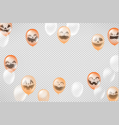 happy halloween greeting card template layout vector image