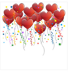 heart balloons party celeberation vector image