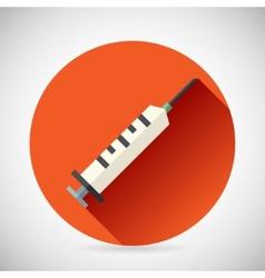 Hospital Treatment Symbol Medical Syringe Prick vector image