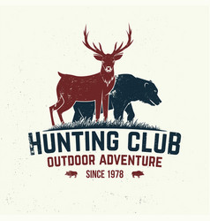 Hunting club badge concept for shirt or vector